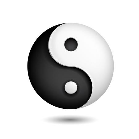 geïsoleerd yin yang symbool