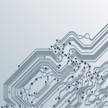 3d circuit board background texture - vector Stock Vector - 34438587