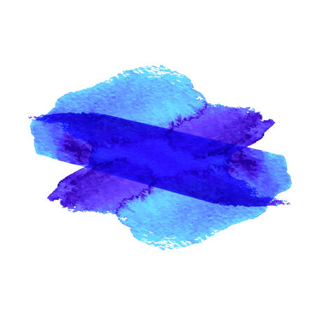 ink spill: grunge blue paint stain in x shape