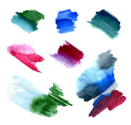 wzorek: plamy farby akwarela Ilustracja