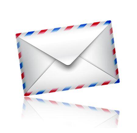 avia: mail icon isolated on white background