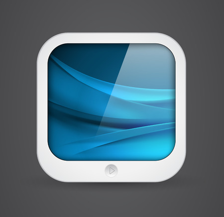 applications: square application icon - mobile tablet computer shape