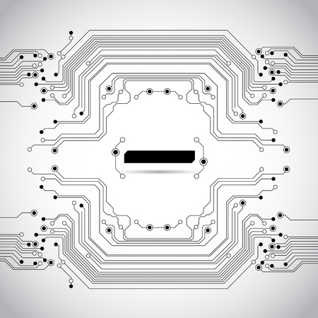 printed: abstract circuit board background texture Illustration