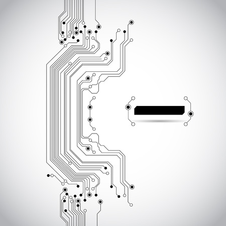 board: abstract circuit board background texture Illustration