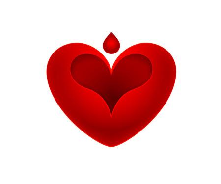 silhouette coeur: conception de forme de coeur
