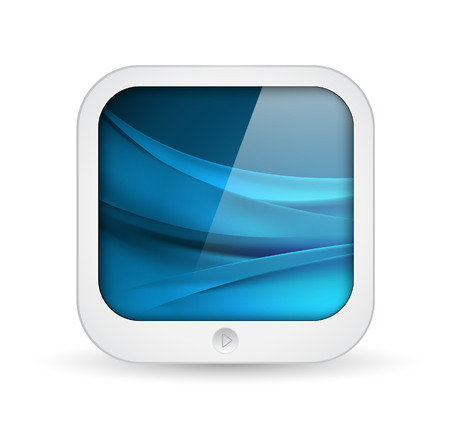 application icon: square application icon - mobile tablet computer shape