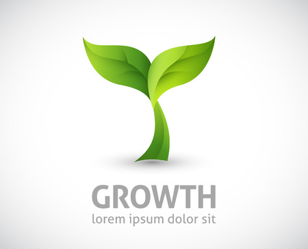 agriculture icon: growing plant illustration Illustration