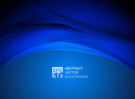 абстрактный: абстрактный синий фон волны Иллюстрация