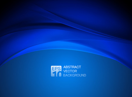 abstract blue wave background. Stock Photo