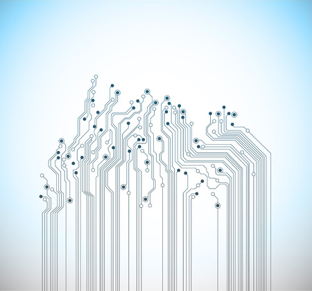 abstract technology blue vector background Illustration