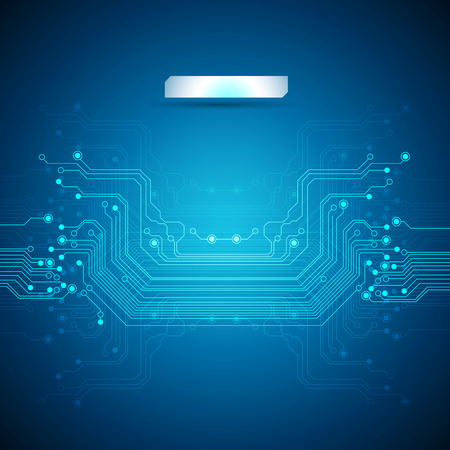 circuit: circuit board blue background Illustration