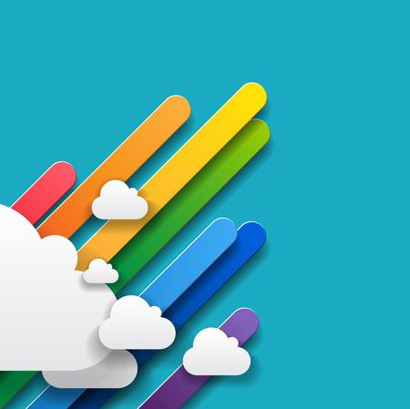 rainbow abstract: rainbow abstract business background rainbow infographics - vector