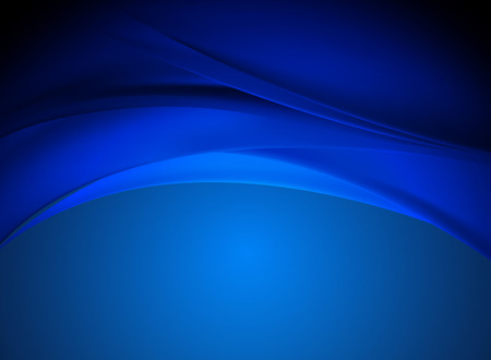 digital art: abstract blue wave backgrounds vector
