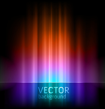 clean background: abstract vector backgrounds - aurora borealis lights