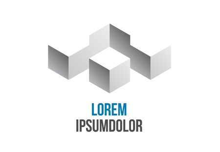 construction icon: business logo abstract geometric icon design
