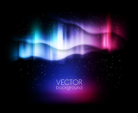 lights: abstract backgrounds northern lights - vector illustration great for christmas designs