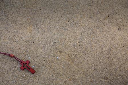 cross, sand, beach