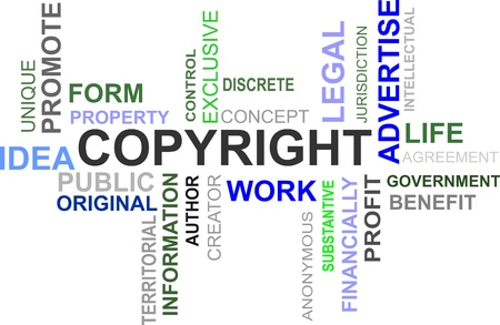 word cloud of copyright items