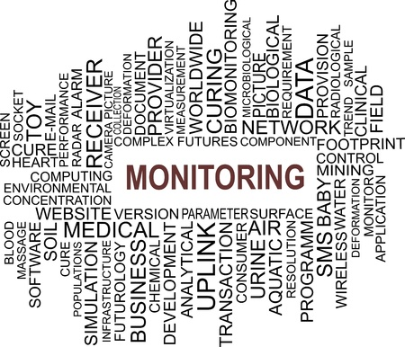 word cloud of monitoring items Stock Vector - 18795739