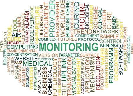 word cloud of monitoring items Stock Vector - 18795738