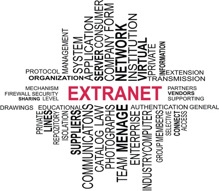 A word cloud of extranet related items Stock Vector - 19731855