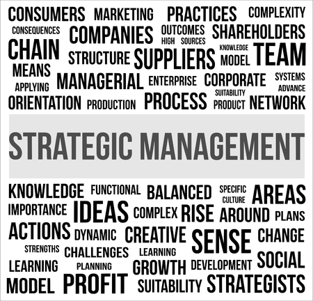 A word cloud of Strategic Management related item Stock Vector - 23240772