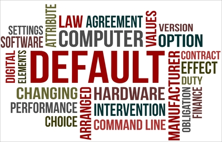 A word cloud of Default related item