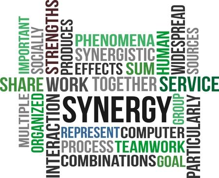 socially: SYNERGY - word cloud