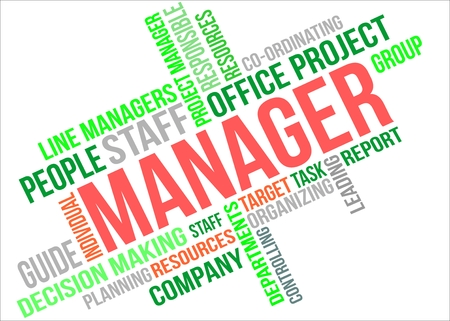 MANAGER - word cloud Illustration