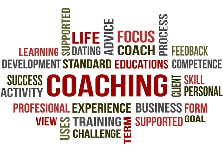 A word cloud of Coaching  related item