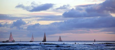 sailboats on the ocean in hawaii