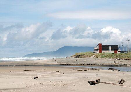 house on the beach, oregon, usa photo