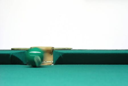 near side: snooker ball near side pocket isolated