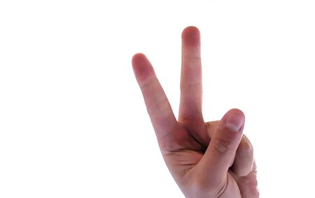 hand with fingers up isolated in white background Stock Photo - 1886106