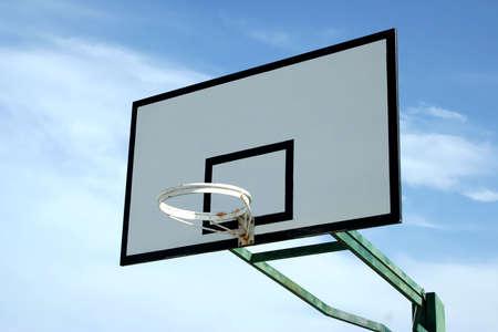 basketball basket in blue sky Stock Photo - 2561233