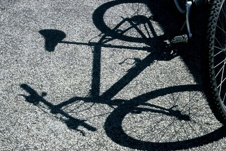 bycicle: bycicle silhouette on the floor