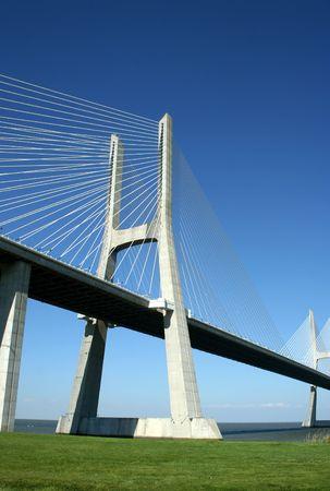 Vasco Gama bridge in Lisbon (portugal) Stock Photo