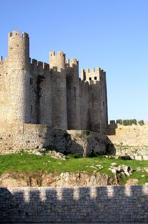 detail from obidos castle in portugal