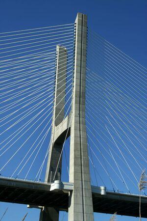 detail of Vasco Gama bridge in Lisbon, Portugal photo