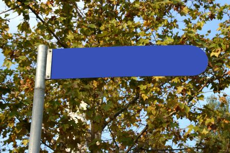 blue empty direction signal in the park photo