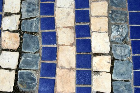 blue square stones and tiles background photo