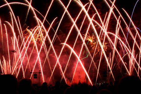 New Year Firework in Lisbon near Belem Tower - Portugal
