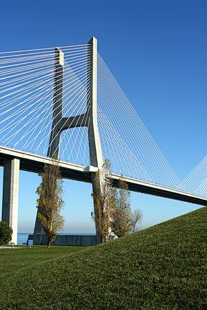 Vasco Gama bridge in Lisbon (portugal) photo