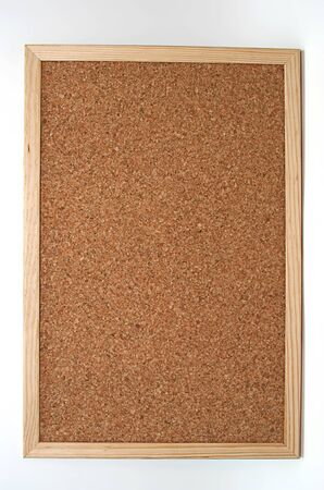 empty cork board in white background Stock Photo - 4343817