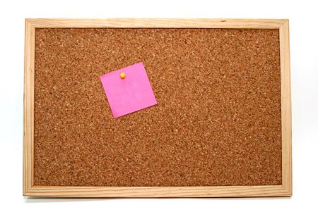 cork board with pink empty note Stock Photo - 4350981