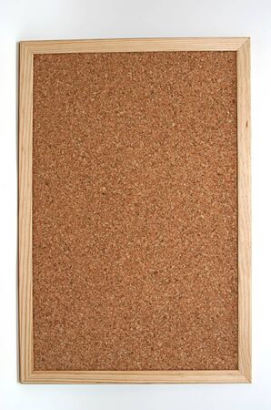 empty cork board in white background Stock Photo