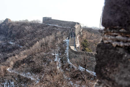 February 2020. Great Wall of China. Mutianyu section.