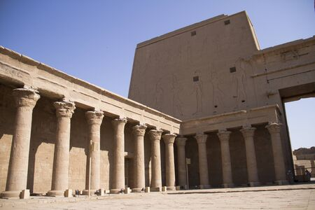 horus: Temple of Horus, Edfu Foto de archivo