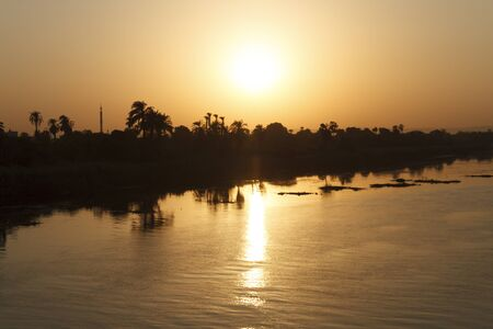 Egyptian Sunset at Nile river