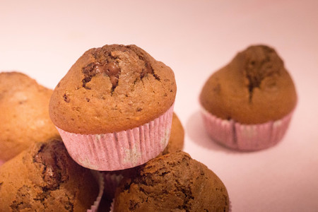 Chocolate muffins. I use to bake muffins once a week and freeze them for the following days.